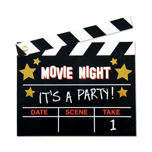 Film Fan Invitations- 8ct