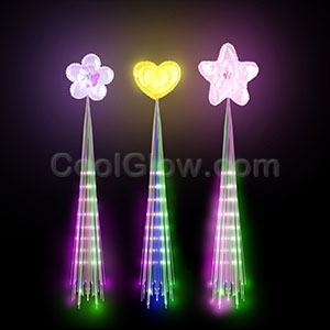 LED Glimmer Hair Extensions - Assorted