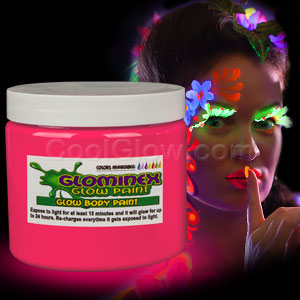 Glow Body Paint Pint - Pink