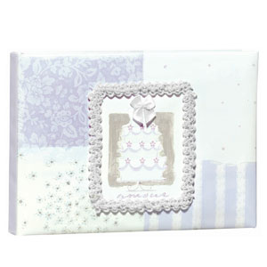 Wishes Embellished Guest Book - Powder Blue