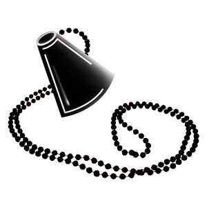 Megaphone Necklace - Black
