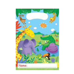 Jungle Buddies Loot Bags- 8ct