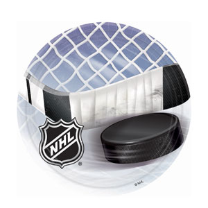 NHL Ice Time 9 Inch Plates- 8ct
