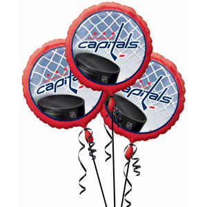 Washington Capitals 3 Pack Balloons- 18in