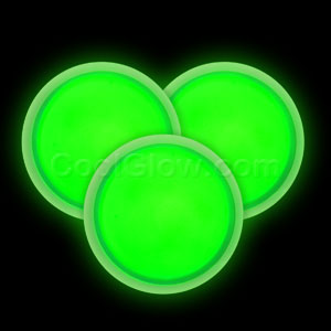 Glow Badge Round - Green