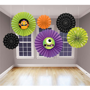 Boo Crew Monsters Fan Decorations- 6ct