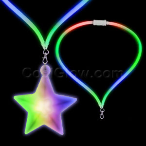 LED Flashing Lanyard - Star