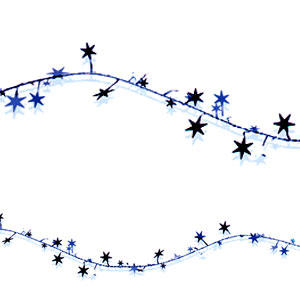 Star Wire Garland - Blue - 12ft