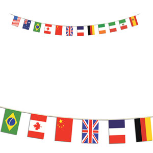International Flag Banner- 14ft