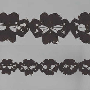Black Tissue Garland- 10ft