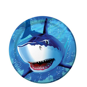 Shark Splash 9 Inch Plates- 8ct