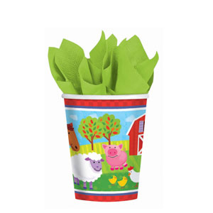 Barnyard Fun 9 Oz. Cups- 8ct