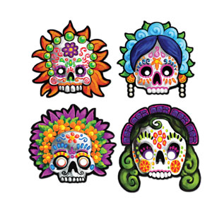 Day of the Dead Masks - 4ct