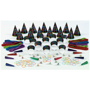 Midnight Glow New Years Party Kit for 25- 112pc