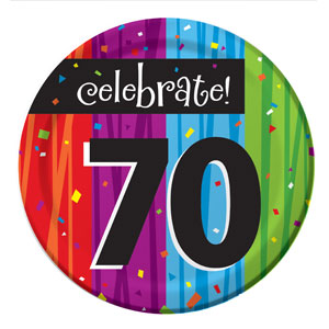 Celebrate 70 Luncheon Plates - 8ct