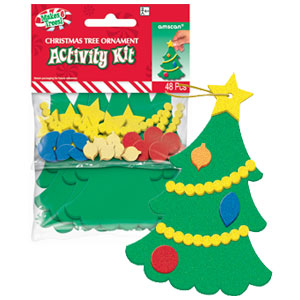 Foam Christmas Tree Activity Kit- 48pc
