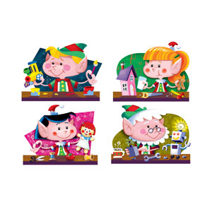 Christmas Elf Cutouts - 4ct