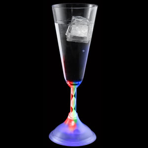 Fun Central R348 LED Light Up Champagne Flute - 7.5 oz