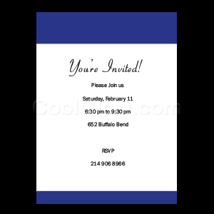 Royal Blue - Custom Invitations