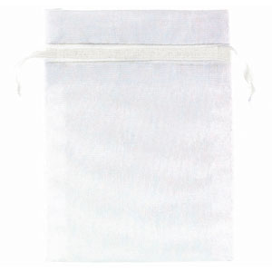 Organza Favor Bags - White 24 Ct