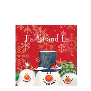 Snowman Carols Luncheon Napkins