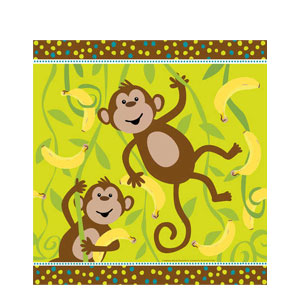 Monkeyin' Around Plastic Tablecover- 108in