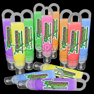 Glominex Glow Paint 1 oz Tubes - Assorted 12ct