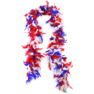 Red, White & Blue Boa - 6ft