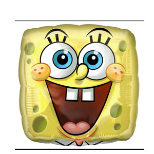 SpongeBob Square Face Balloon- 18 Inch