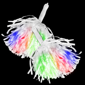 LED Pom Poms - Multicolor Lights