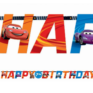 Cars 2 Add-an-Age Letter Banner