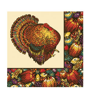 Autumn Turkey Dinner Napkins- 16ct