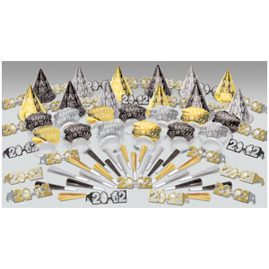 Glitter New Years Party Kit for 25- 75pc