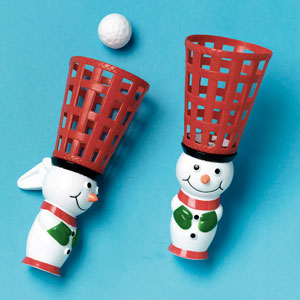 Snowman Pop and Catch Game- 2ct
