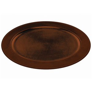 Elegant Fall Oval Platter- Brown 19 Inch