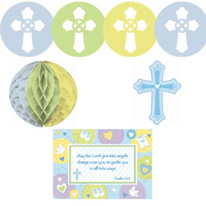 Sweet Christening Blue Decorating Kit- 10pc
