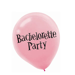 Bachelorette Party Latex Balloons- 6ct