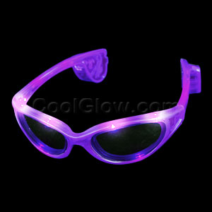 LED Sunglasses - Purple