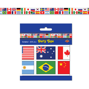 International Flag Party Tape- 20ft