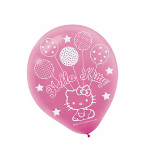 Hello Kitty Balloon Dreams Printed Latex Balloons- 6ct
