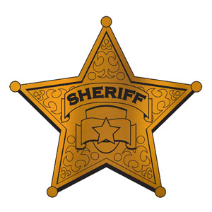 Foil Sheriff Badge Silhouette- 12in