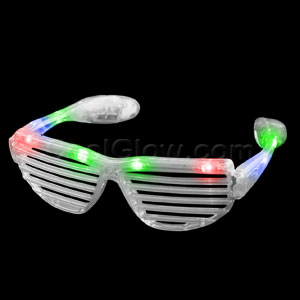 LED Stunner Shutter Shades - Multicolor
