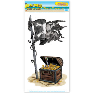 Pirate Treasure Peel N Place - 1pc