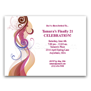 Colored Waves - Custom Invitations