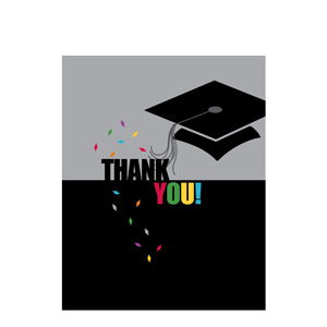 Confetti Grad Thank You Cards