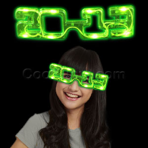 LED 2013 Eye Glasses - Green