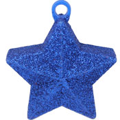 Star Glitter Balloon Weight - Blue