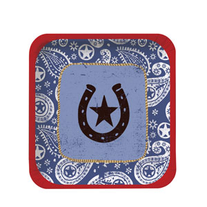 Western Lasso 7 Inch Plates- 8ct