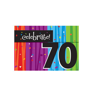Celebrate 70 Invitations - 8ct