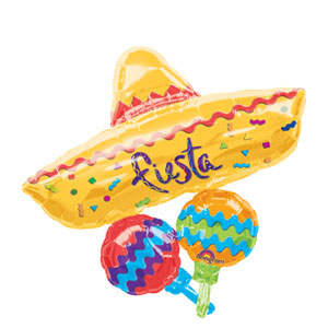Fiesta Cluster Shape Balloon- 32in